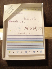 Pack of 3 Thank you cards w envelopes. Simon Elvin. 13 cm x 9.5 cm.